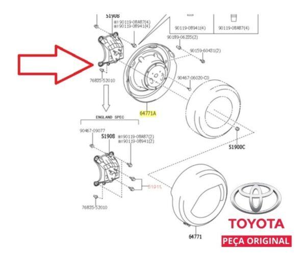 Sensor de estacionamento traseiro - Yaris Hatch, Yaris Sedã